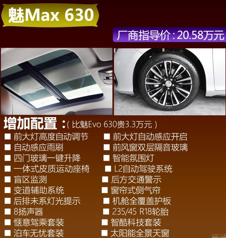 AionS顶配魅Max630配置有什么?